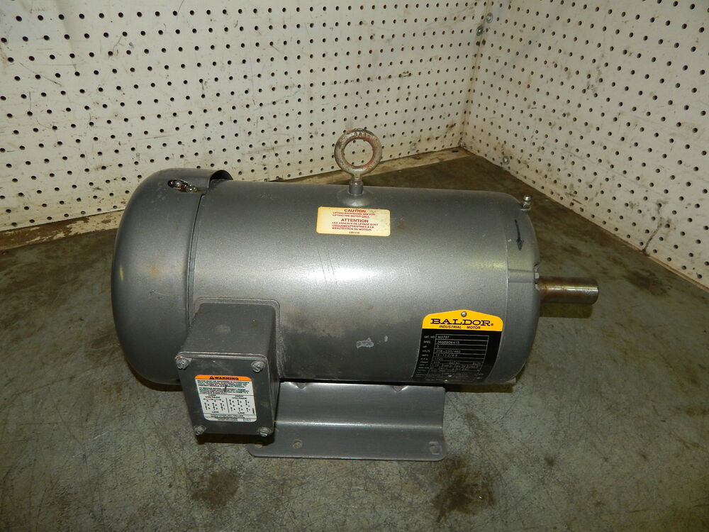 Baldor m3707 motor 5hp 3ph 1725rpm 208 230 460volts for Vfd for 5hp motor