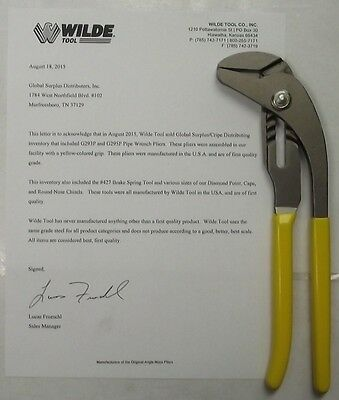 Wilde Tool G295P Smooth Jaw Pipe Wrench Pliers 10-Inch USA