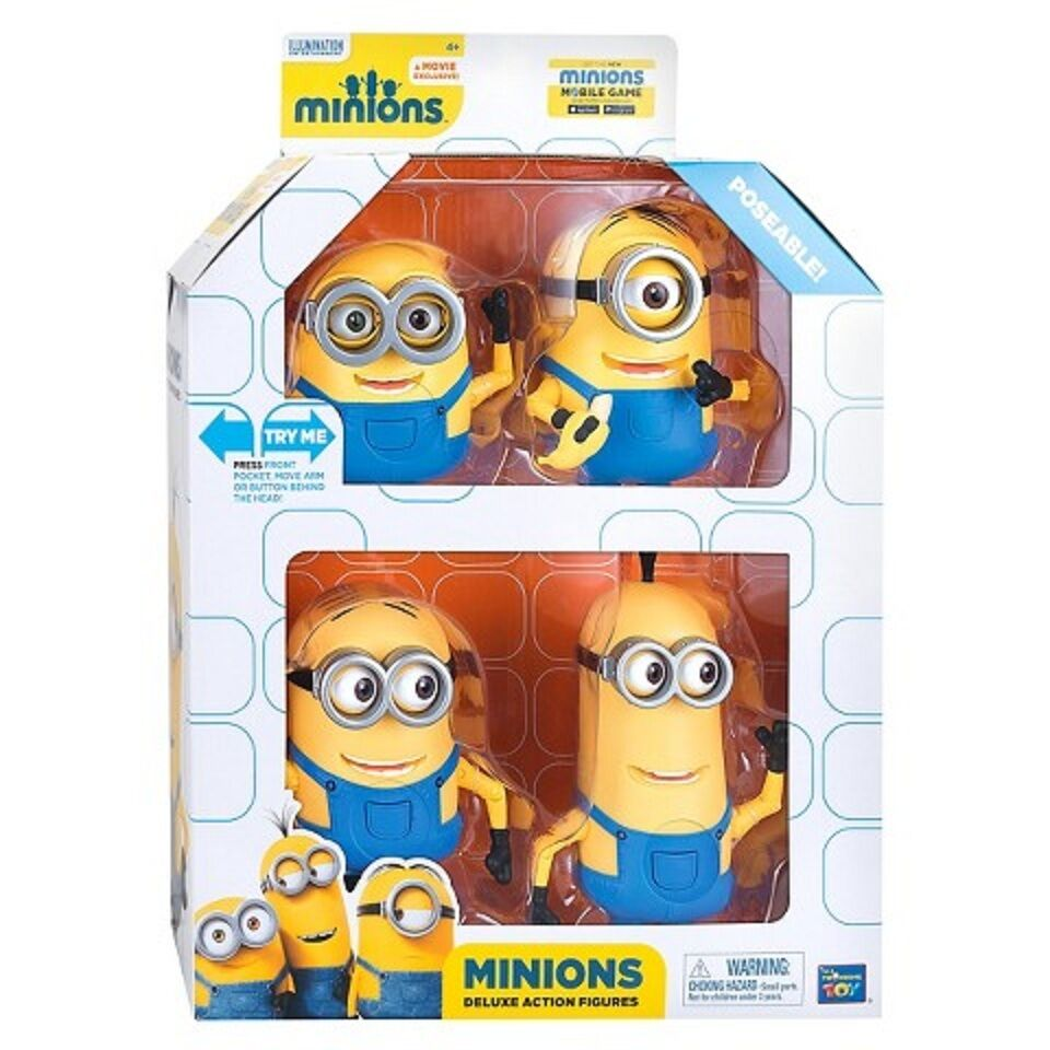 Despicable Me Minions Collectible Figure Set 4 piece (Only ...