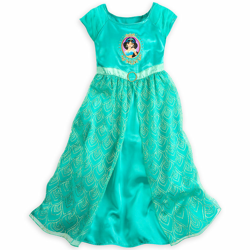 Disney store aladdin princess jasmine short sleeve nightgown pajama girl 5 6 ebay - Robe jasmine disney ...