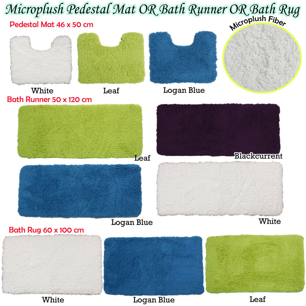 Microplush Soft Feel Rubber Backed Non Slip Bath Runner Or