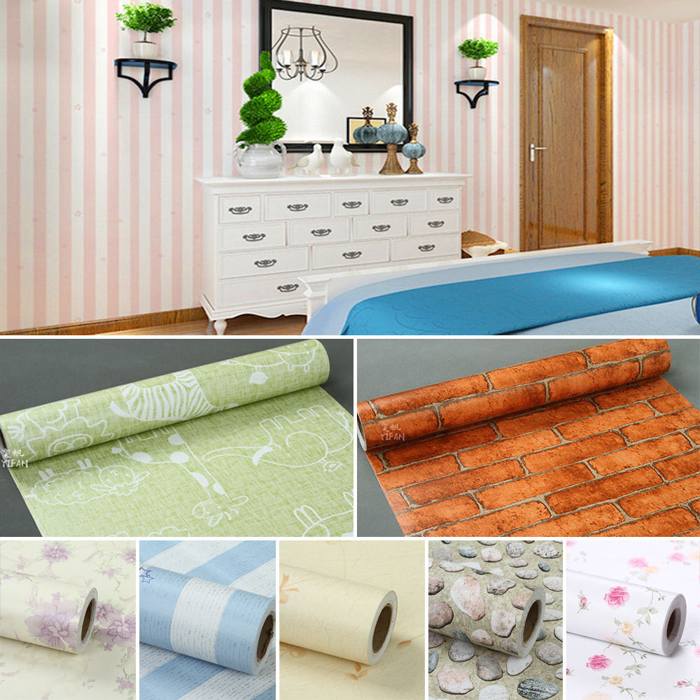 New 1m wall stickers mural decal self adhesive wallpaper for Home wallpaper ebay