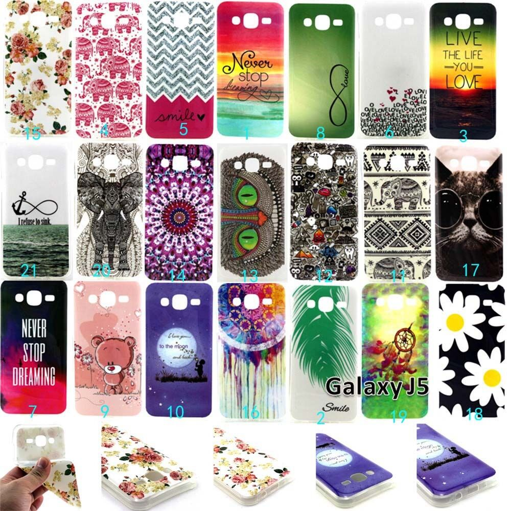 ... Galaxy J5 J7 Fashion Gel Silicone Design Rubber Skin Back Case : eBay