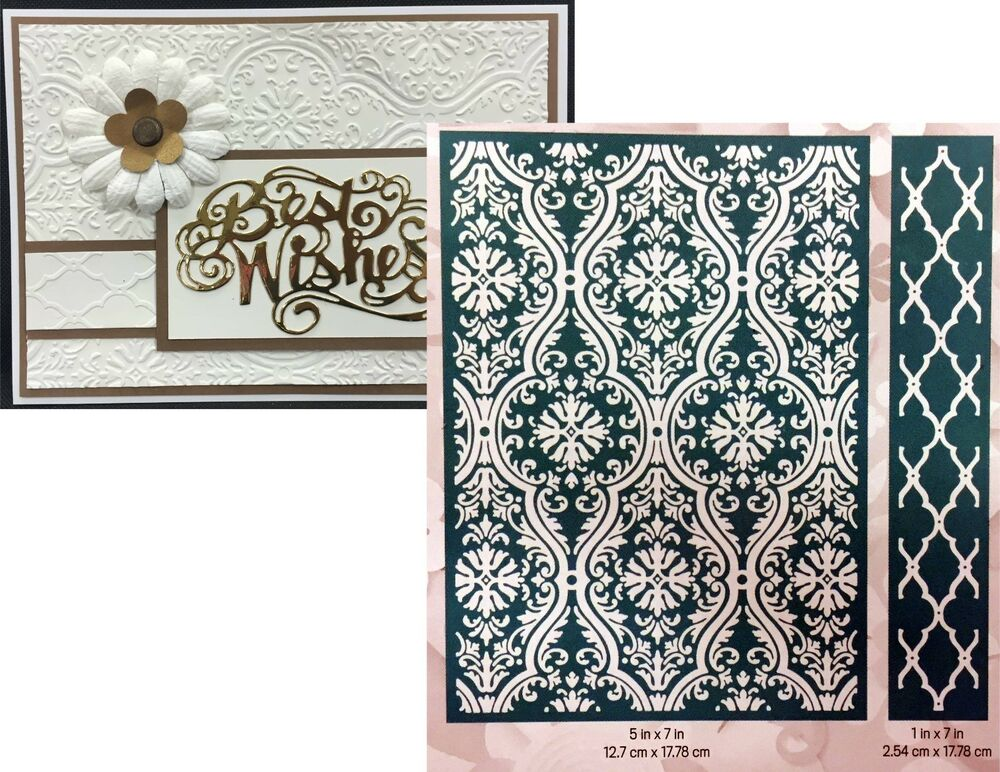 cuttlebug embossing folders fluted damask anna griffin