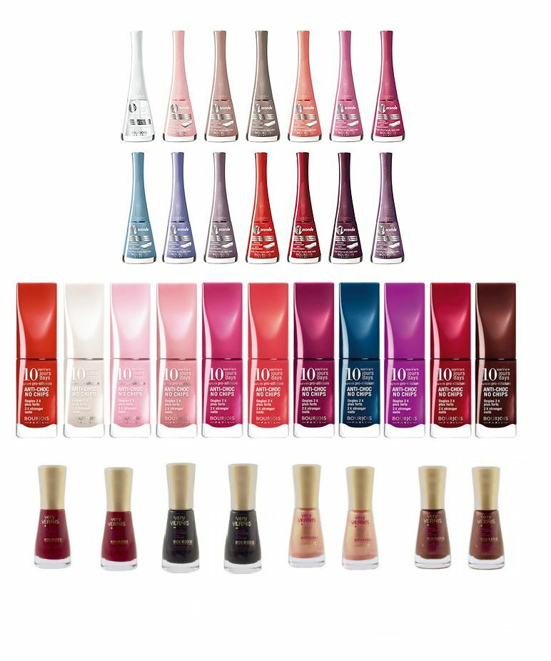 How To Make Nail Polish Not Chip: BOURJOIS 10 DAYS NO CHIP / 1 SECOND / VERY VERNIS / NAIL