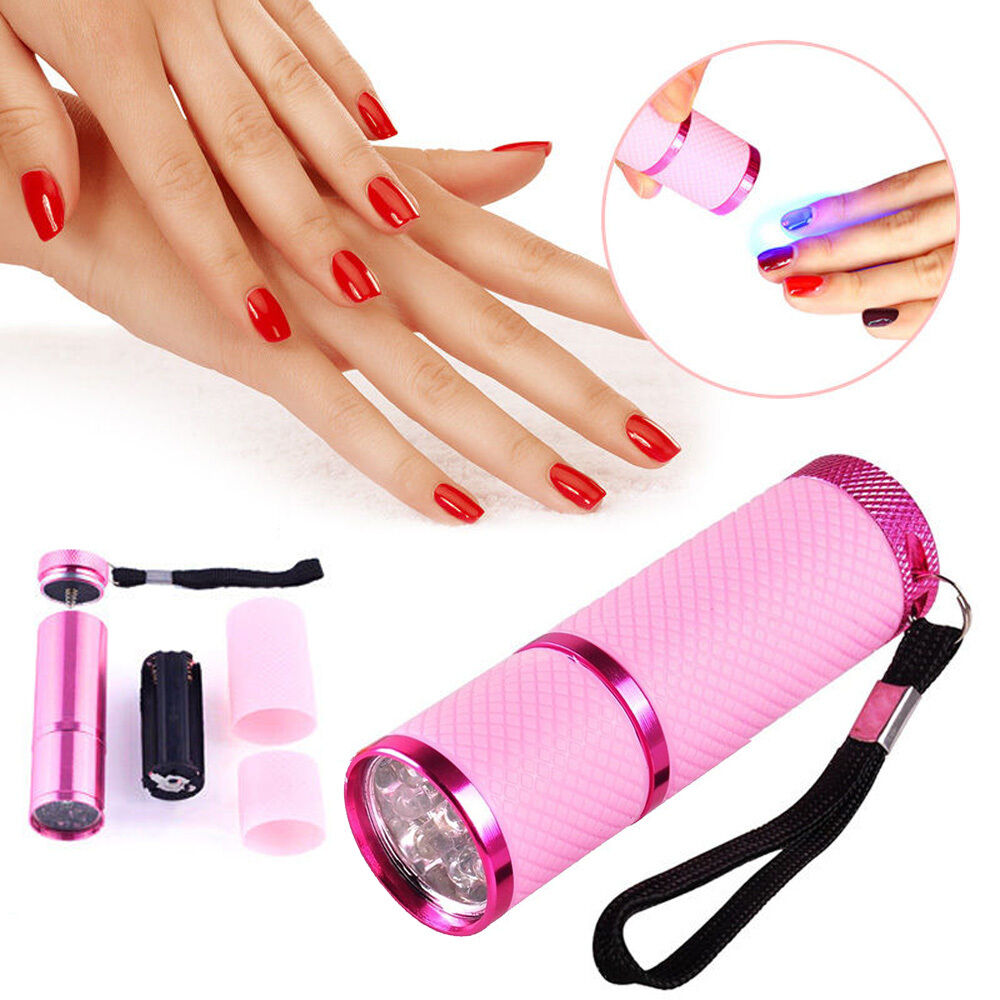 Pink Nail Polish Mini: Pro Mini LED Nail Dryer Curing Lamp Flashlight Torch For