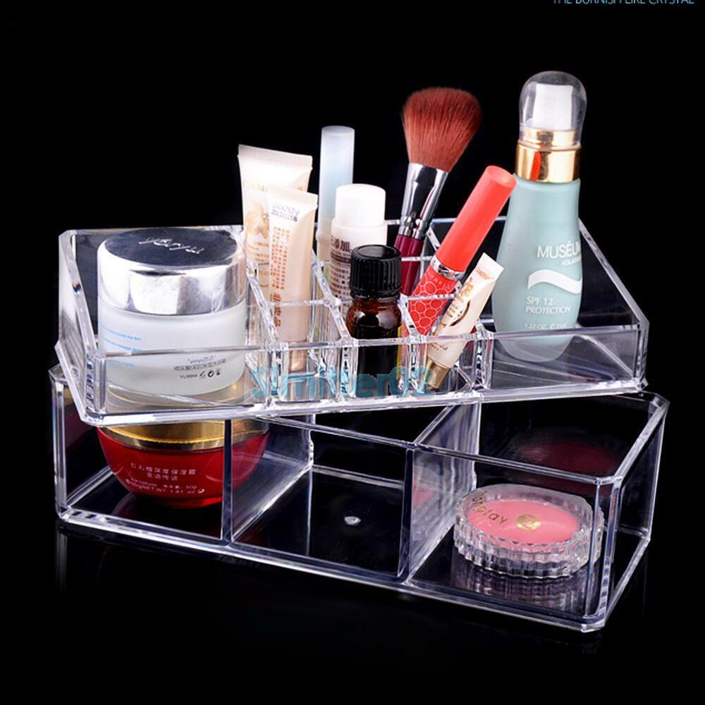 clear acrylic cosmetic organizer makeup case holder. Black Bedroom Furniture Sets. Home Design Ideas