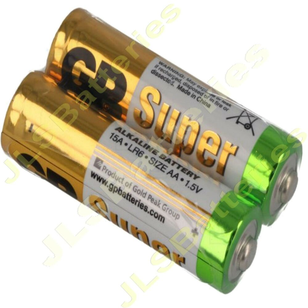 100 x aa gp super alkaline batteries lr6 15a 1 5v dated 2021 battery ebay. Black Bedroom Furniture Sets. Home Design Ideas
