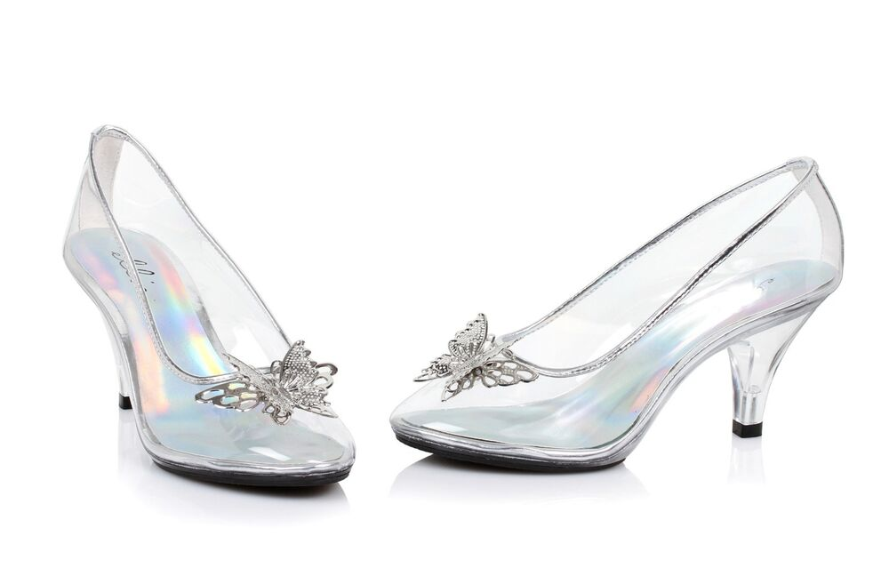 Clear Glass Slippers Cinderella Costume Shoes Wedding ...
