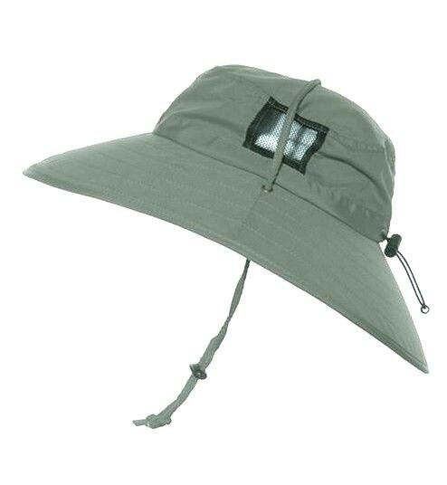 1540e7df Details about SUN PROTECTION ZONE Unisex BOONEY HAT Lightweight GREEN Adult  100 SPF UPF 50+