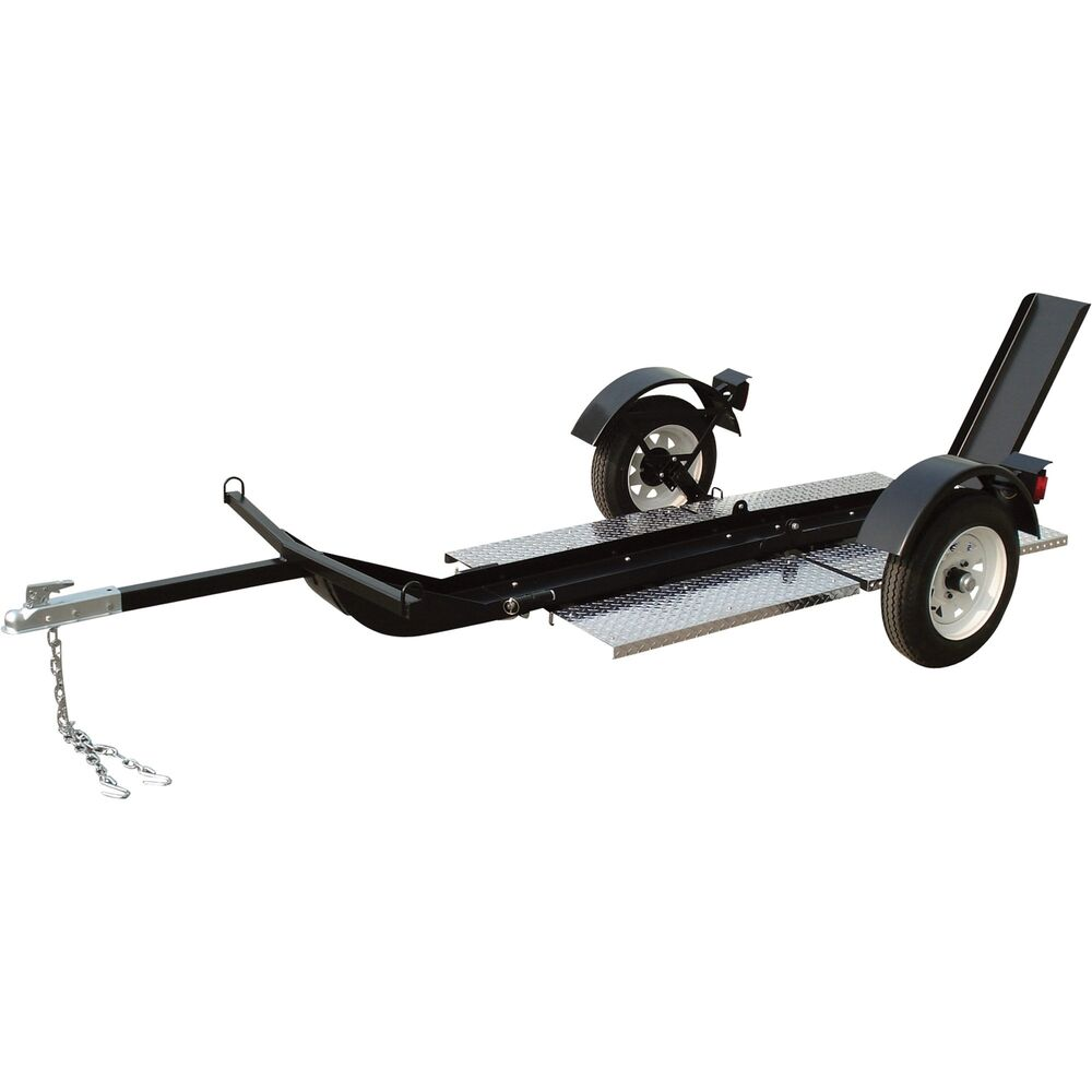 motorcycle trailer single tow rail folding ultra trailers tool shipping cheap