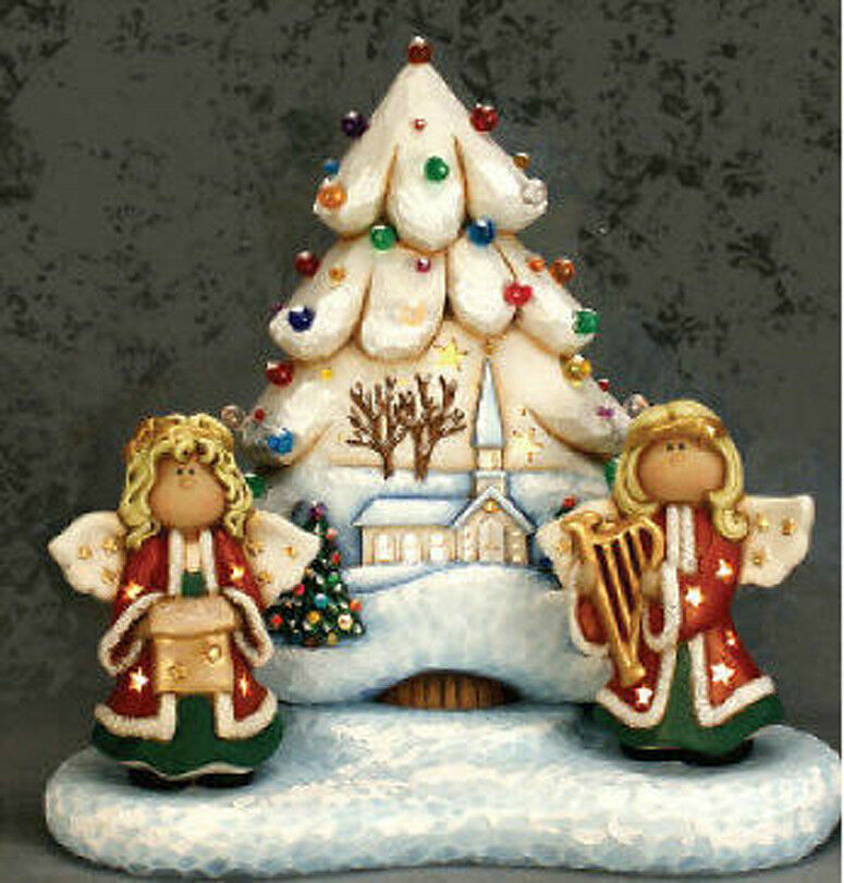 Ceramic bisque ready to paint christmastree base angels for Ceramic based paint