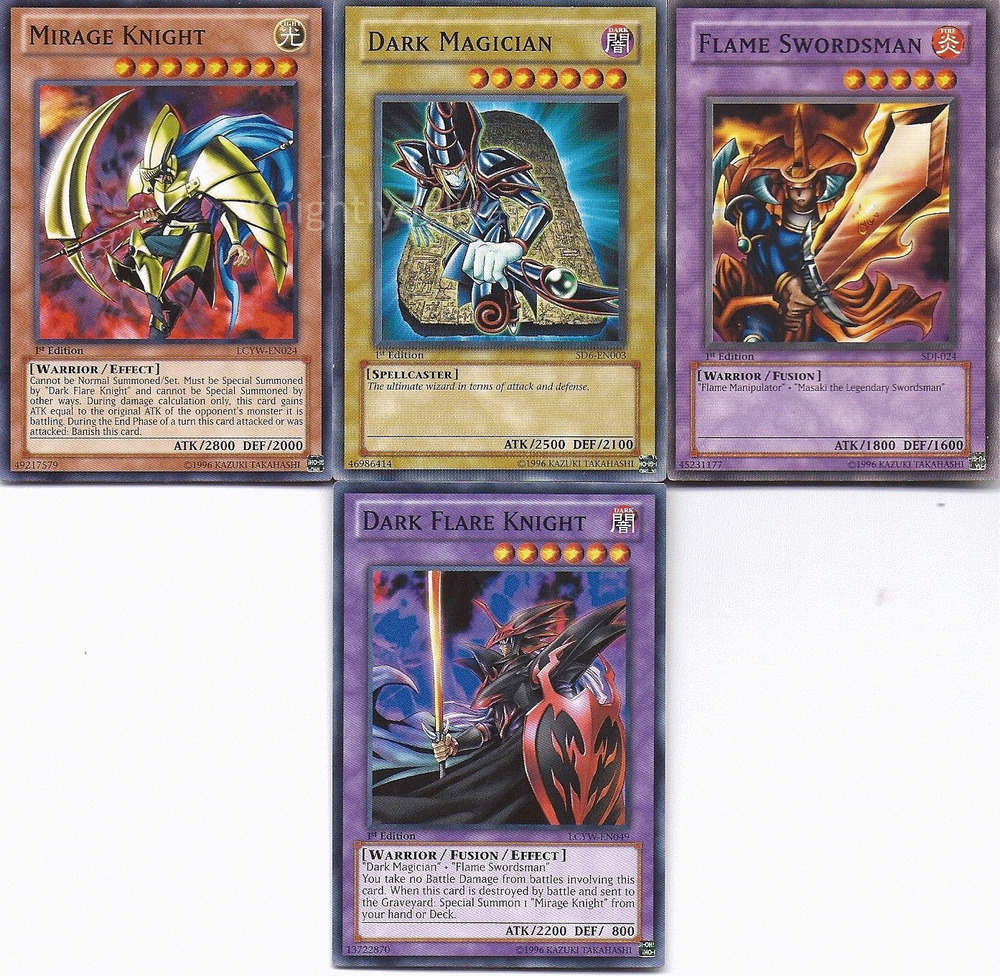 Dark Flare Knight + Mirage Knight + Dark Magician + Flame ...