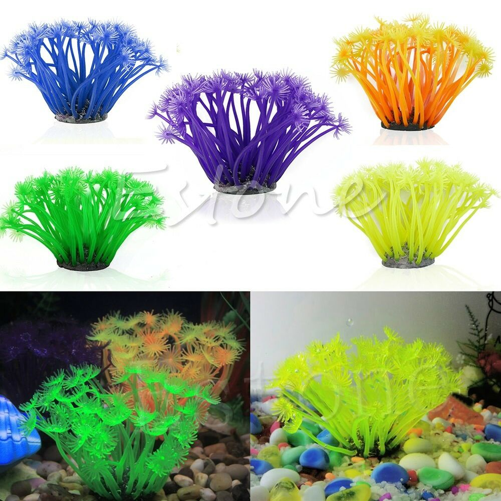 Blue artificial fake coral for fish tank aquarium rock for Fish tank coral decorations