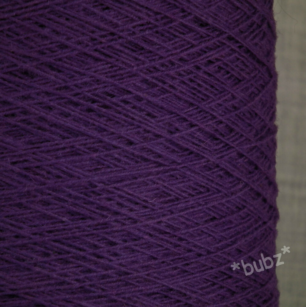 PURE SHETLAND WEAVING WOOL PURPLE 3 PLY 500g CONE 10 BALLS YARN KNIT BRIGHT 1...