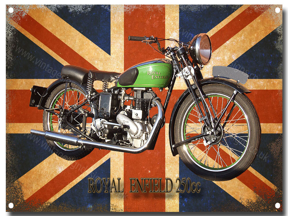 royal enfield motorcycle metal sign ebay. Black Bedroom Furniture Sets. Home Design Ideas