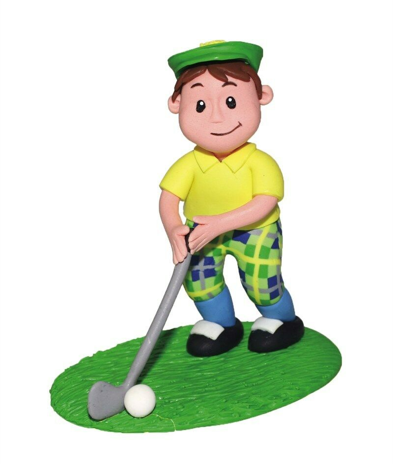 Cake Decorating Golf Figures : Culpitt GOLFER Golf Claydough Instant Cake Topper ...