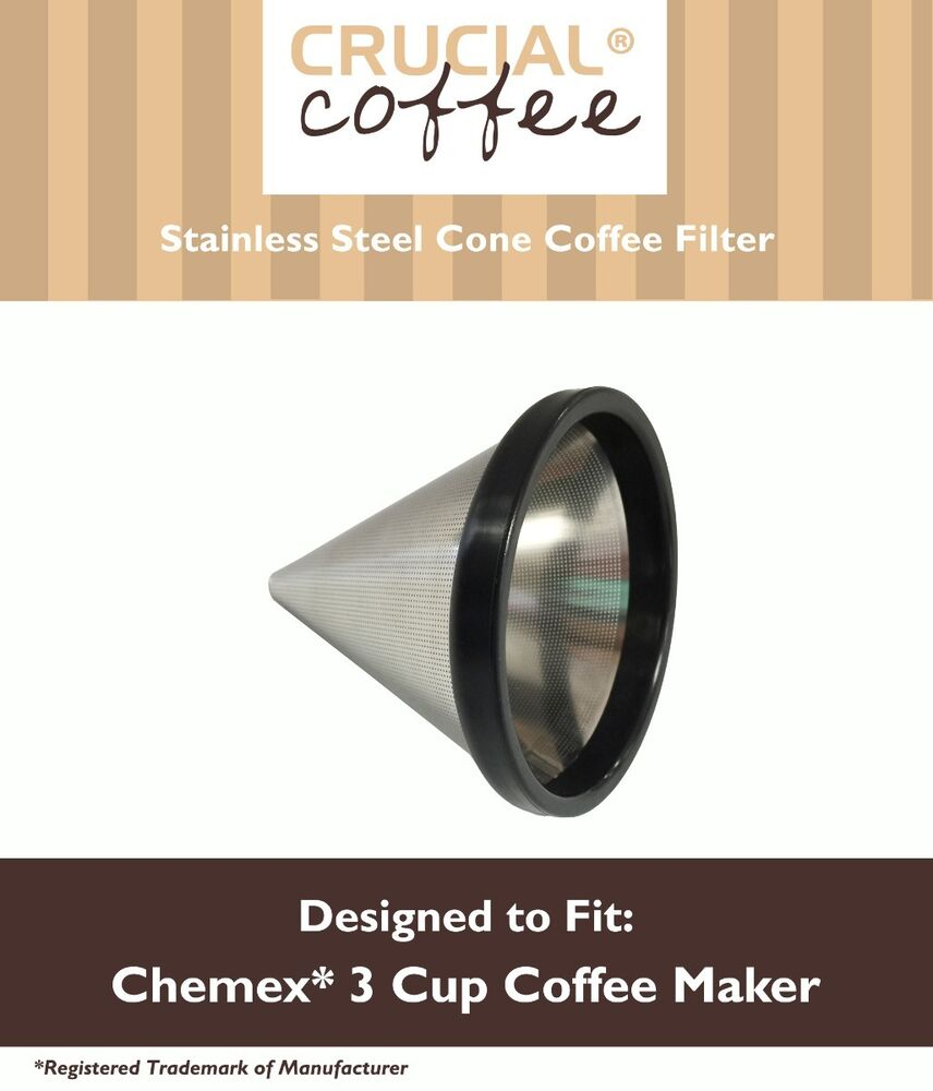 Chemex Coffee Maker Reusable Filter : Washable & Reusable Cone Coffee Filter Fits Chemex 3 Cup Coffee Makers FP-2 eBay