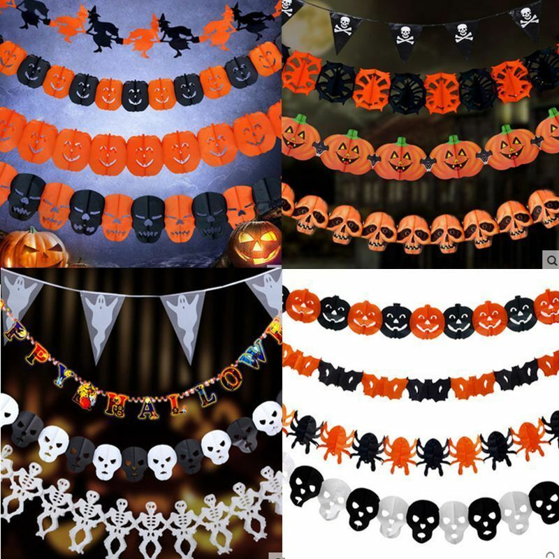 Black Halloween Garland