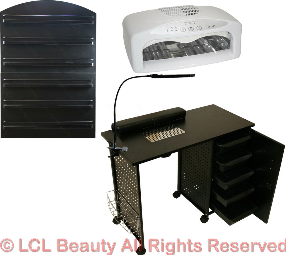 Hair Dryer Station ~ Vented manicure nail table station led dryer wall mount