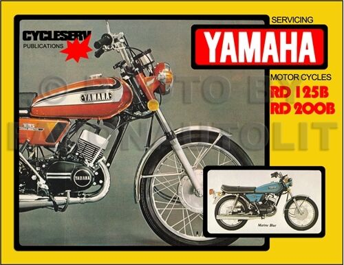 yamaha shop manual rd125 rd200 1974 1975 1976 cycleserv rd 125 200 repair book ebay