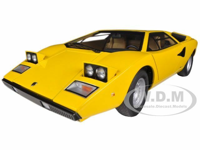 lamborghini countach lp400 yellow 1 18 diecast car model by autoart 74646 ebay. Black Bedroom Furniture Sets. Home Design Ideas