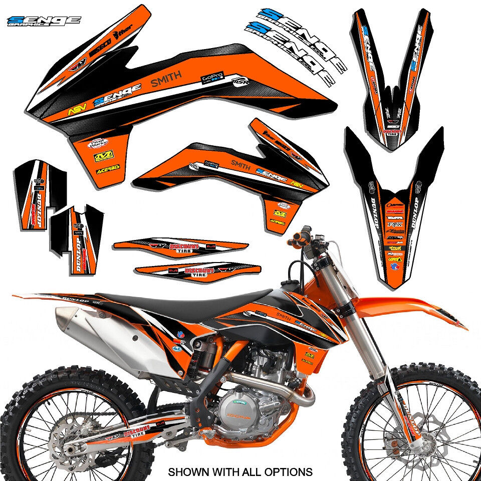 1998 1999 2000 ktm sx 125 250 380 400 520 graphics kit for Stickers deco