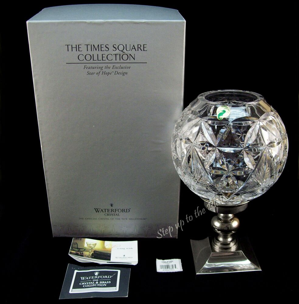 Waterford crystal times square star of hope hurricane lamp - Waterford crystal swimming pool times ...