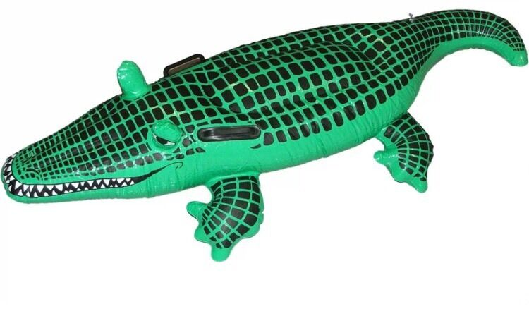 Large Crocodile Inflatable Blow Up Swimming Floats Kids