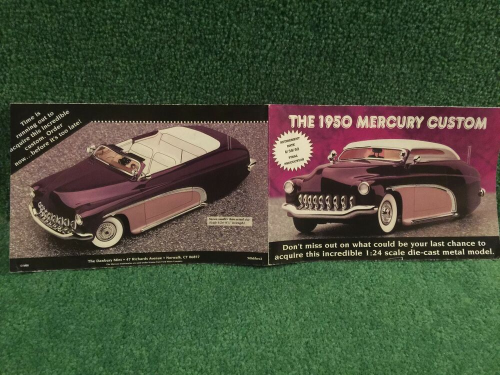 Danbury mint the 1950 mercury custom brochure ebay for The danbury