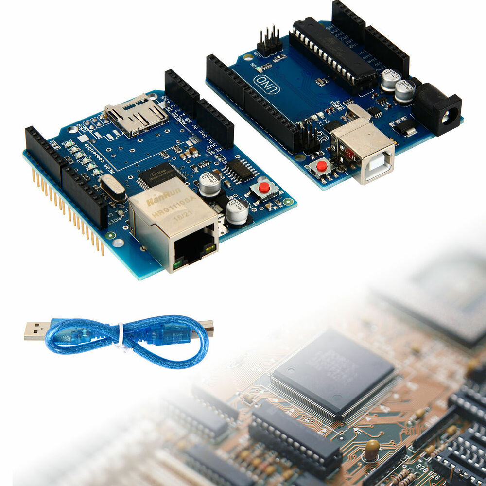 Arduino uno r board ethernet shield w sd slot