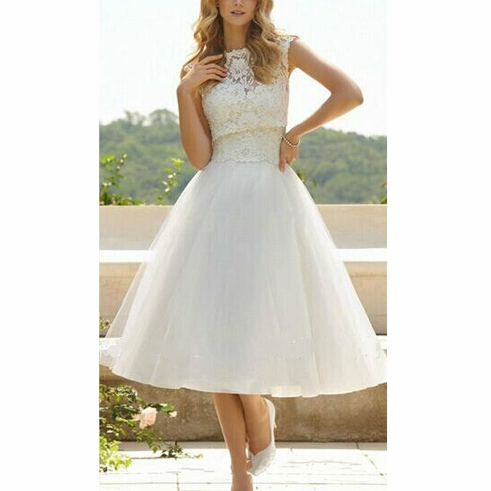 Vintage Wedding Dresses Usa: Women's Elegant White Lace Chiffon Floral Wedding Dresses