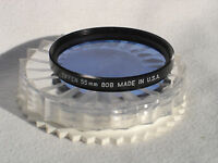 TIFFEN 55mm 80B filter with case. U.S.A. Excellent condition!