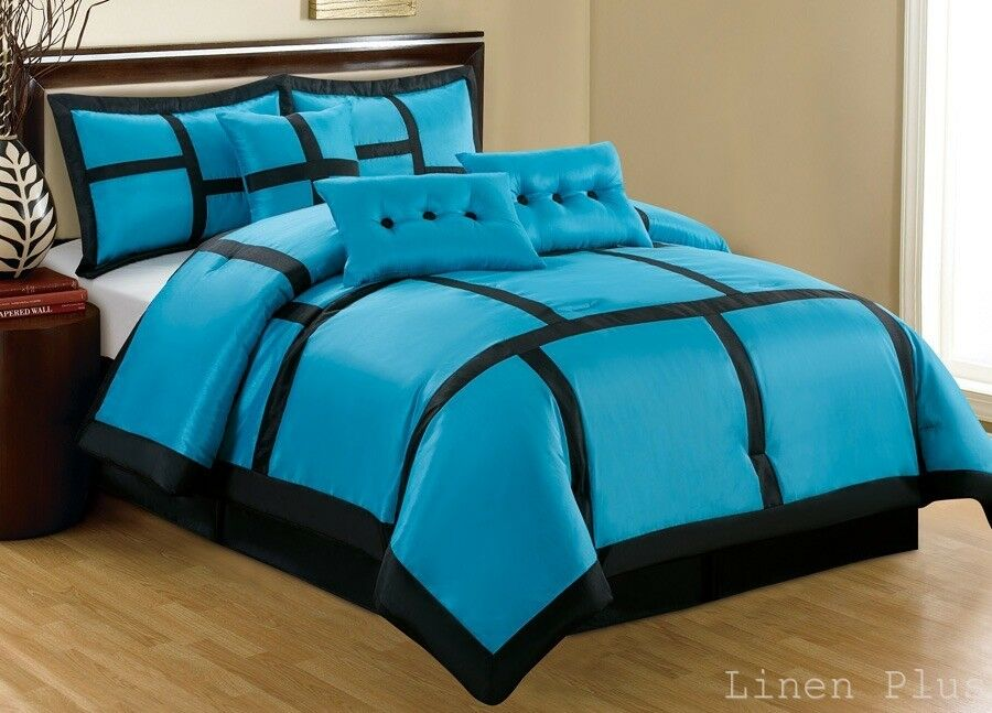 Turquoise And Black Comforter Sets Full Size