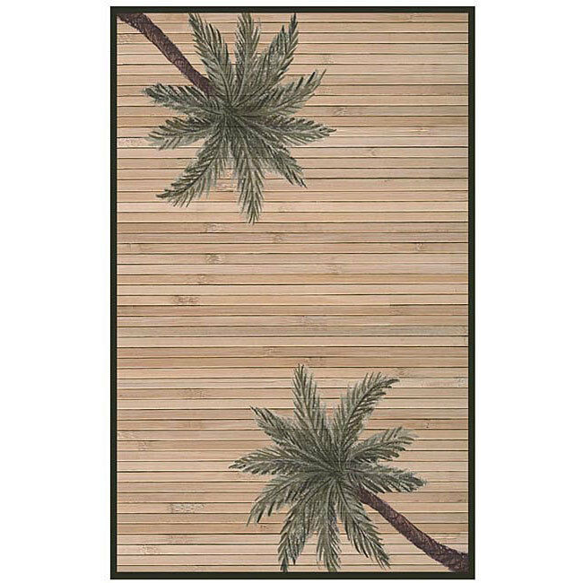 Bamboo Rug Runner: Hand-woven Palm Tree Rayon From Bamboo Rug (5' X 8')