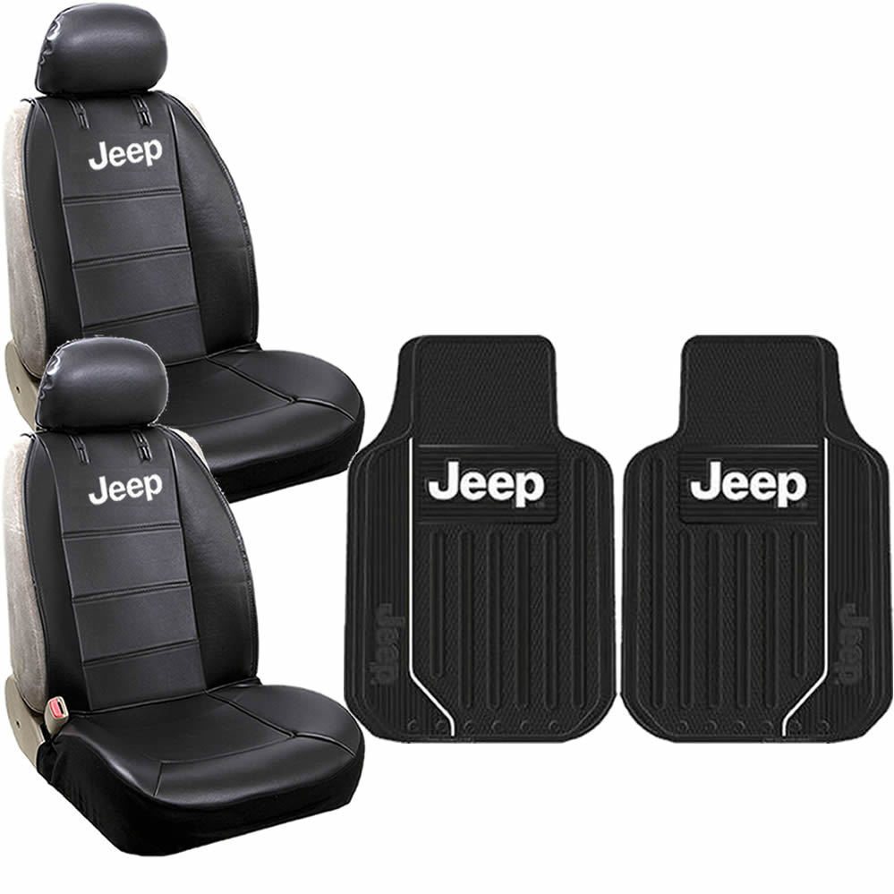 new 6pcs jeep elite style logo car truck front seat covers