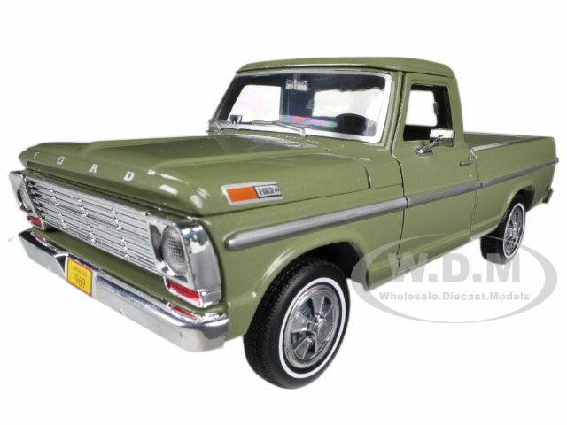 1969 ford f 100 pickup truck green 1 24 diecast model car by motormax 79315 ebay. Black Bedroom Furniture Sets. Home Design Ideas
