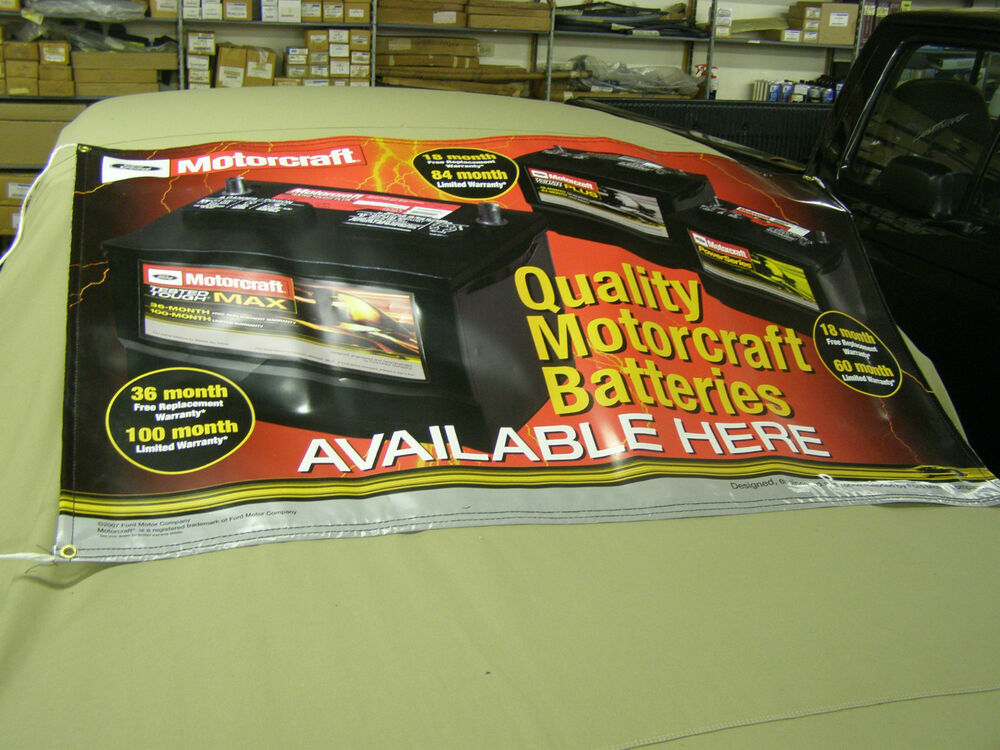 Nos Oem 2007 Ford Motorcraft Battery Banner Mustang Shelby