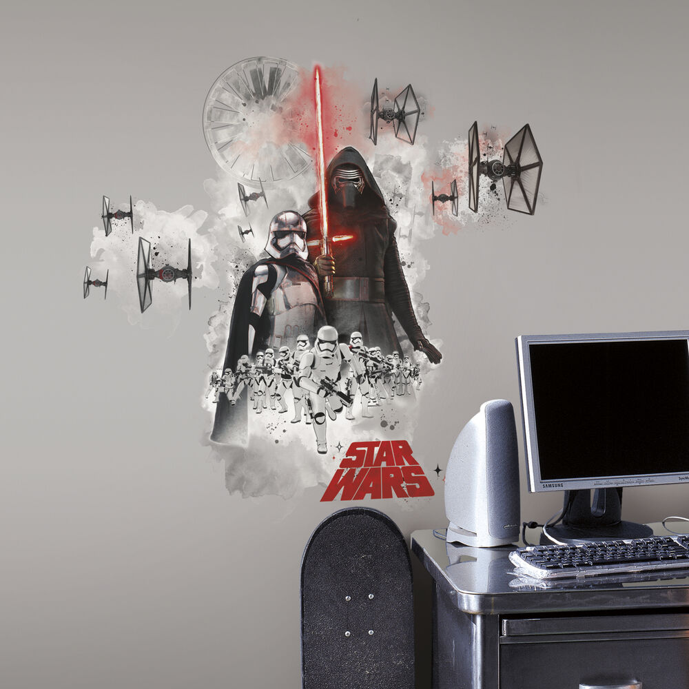 new giant star wars the force awakens villains wall decals stickers room decor ebay. Black Bedroom Furniture Sets. Home Design Ideas