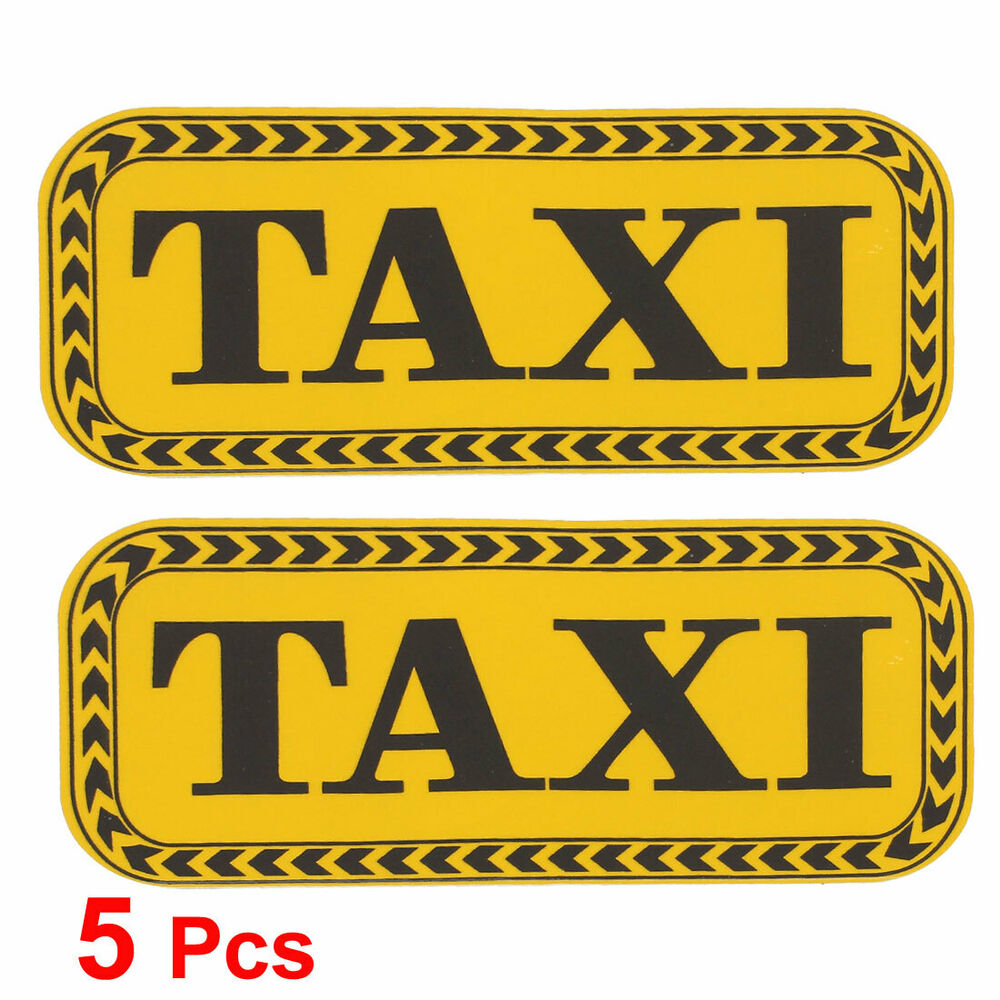 Details about 5 Pcs TAXI Letters Printed Auto Decoration Car Decal Sticker  Yellow Black 930bae751ed2