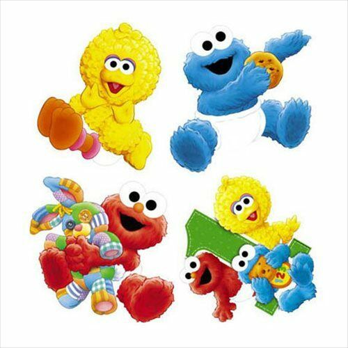 SESAME STREET 1st Birthday WALL DECORATIONS (4) ~ First ...