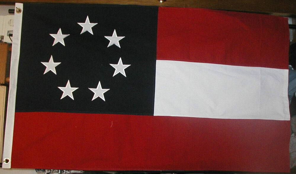 COTTON 7 Star 1st National Stars and Bars Flag, Southern ...