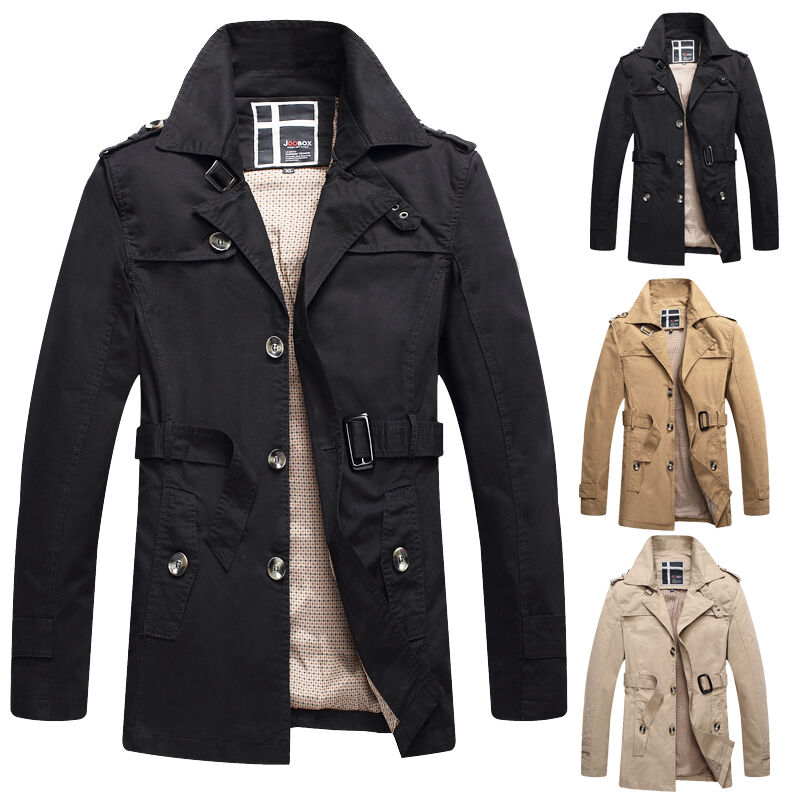 winter 2016 m nner warm trenchcoat jacken winterjacken herren m ntel sakko parka ebay. Black Bedroom Furniture Sets. Home Design Ideas