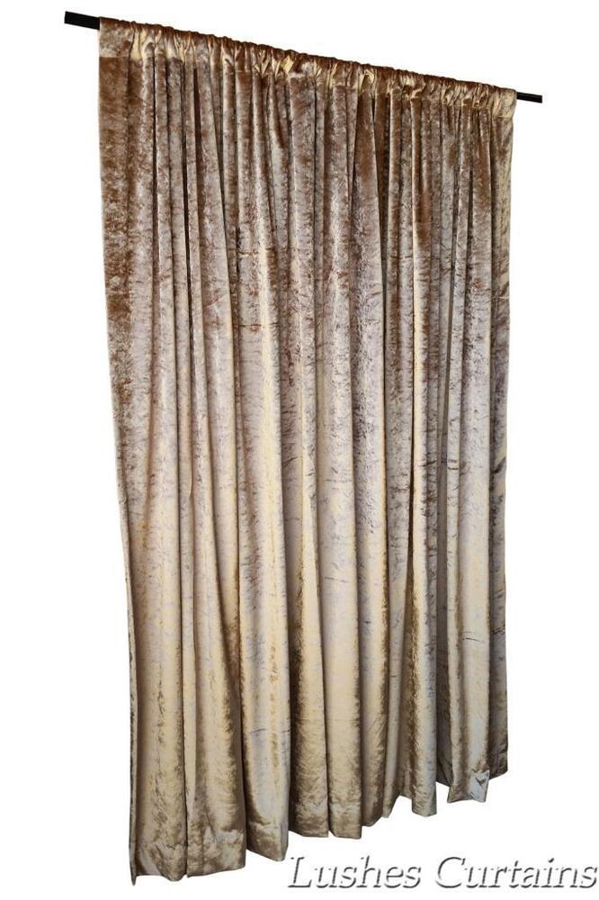 Gold 144 inch h velvet curtain long panel high ceiling for High ceiling curtains
