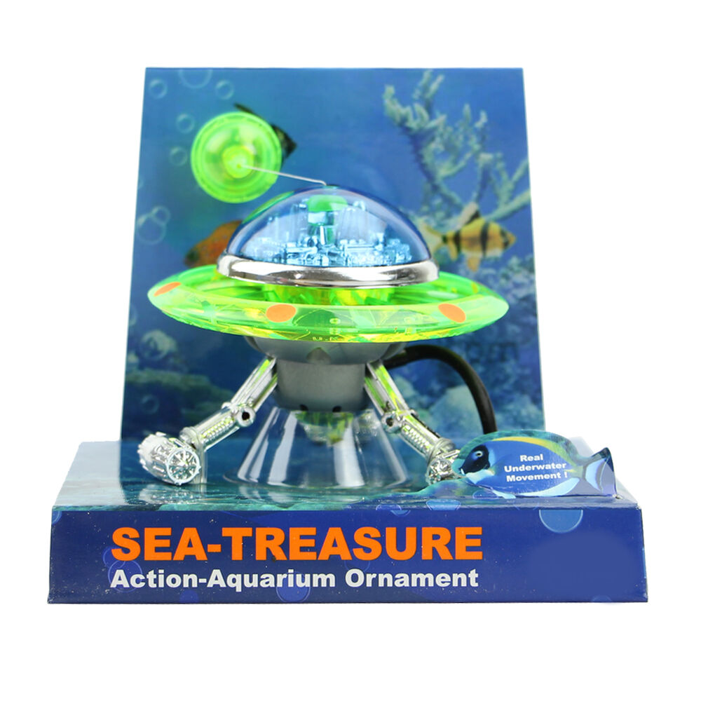 Decor ufo aquarium effect decoration action air underwater for Aquarium airplane decoration