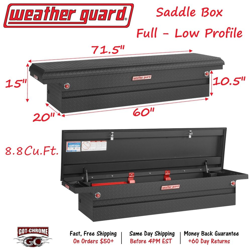 121 52 01 weather guard matte black saddle box 71 low profile truck toolbox ebay