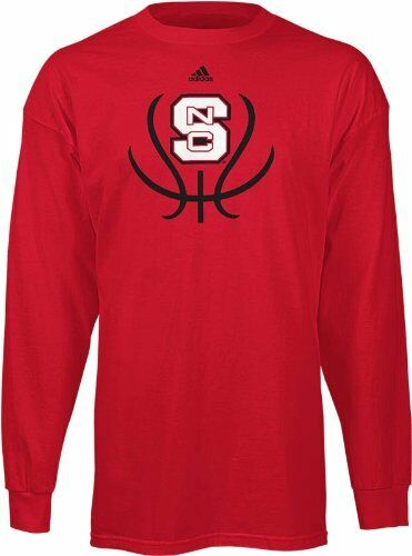 Nc state wolfpack adidas long sleeve basketball groove t for Nc state basketball shirt