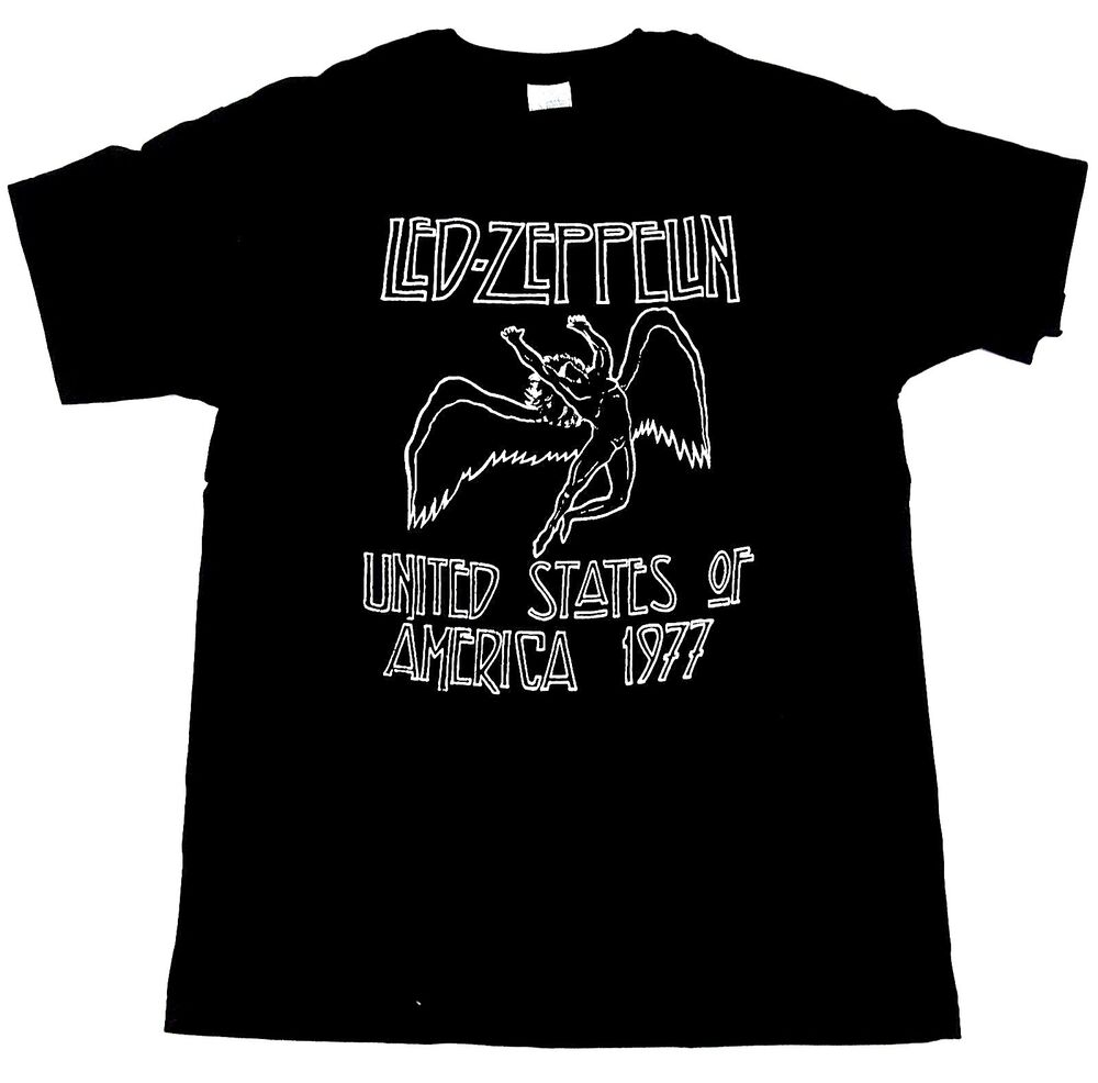 led zeppelin icarus t shirt usa 1977 tee plant page. Black Bedroom Furniture Sets. Home Design Ideas