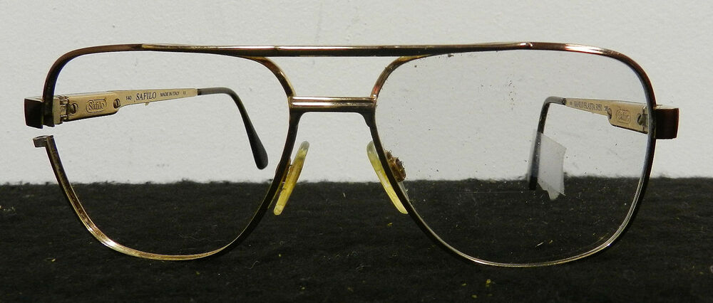 Vintage Eyeglass Frame Restoration : VINTAGE MENS SAFILO EYEGLASSES FRAMES MADE IN ITALY CLEAN ...