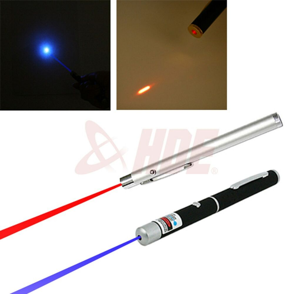 2pc Powerful 5mw Military Red Amp Blue Violet Laser Pointer